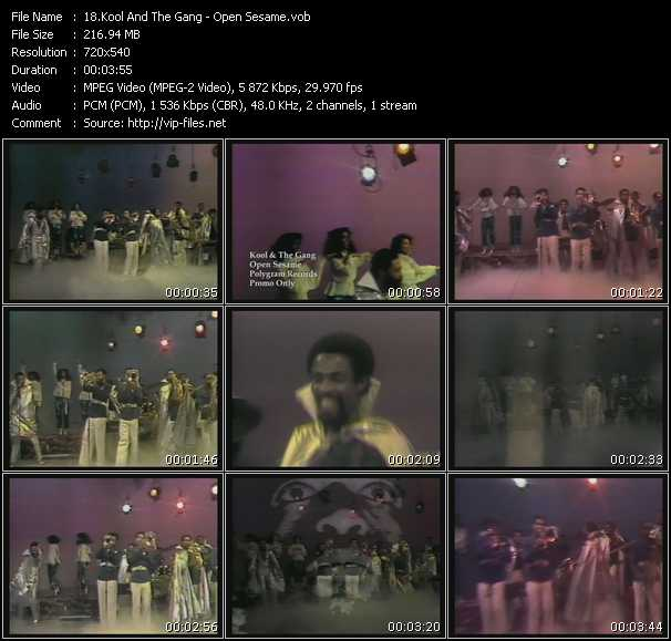 download Kool And The Gang « Open Sesame » video vob