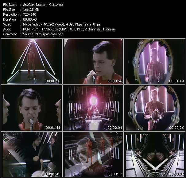 download Gary Numan « Cars » video vob