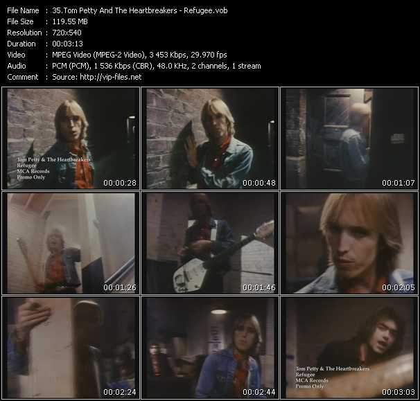 download Tom Petty And The Heartbreakers « Refugee » video vob