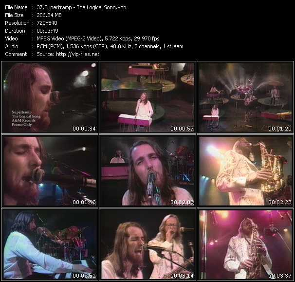download Supertramp « The Logical Song » video vob