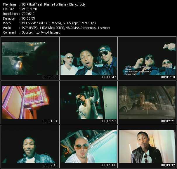 download Pitbull Feat. Pharrell Williams « Blanco » video vob