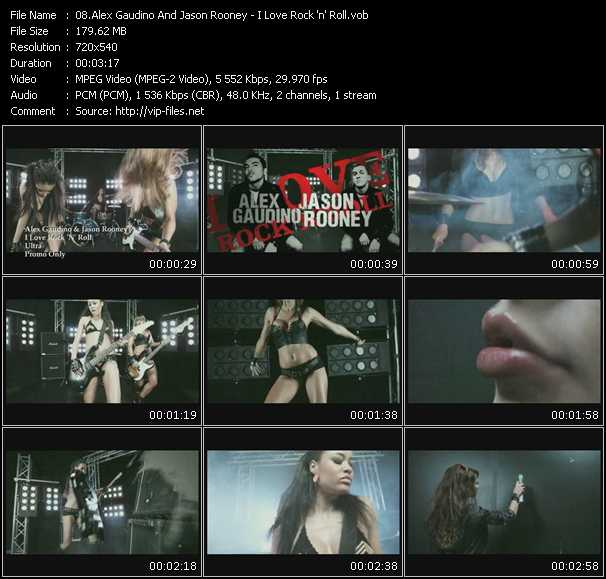 download Alex Gaudino And Jason Rooney « I Love Rock 'n' Roll » video vob