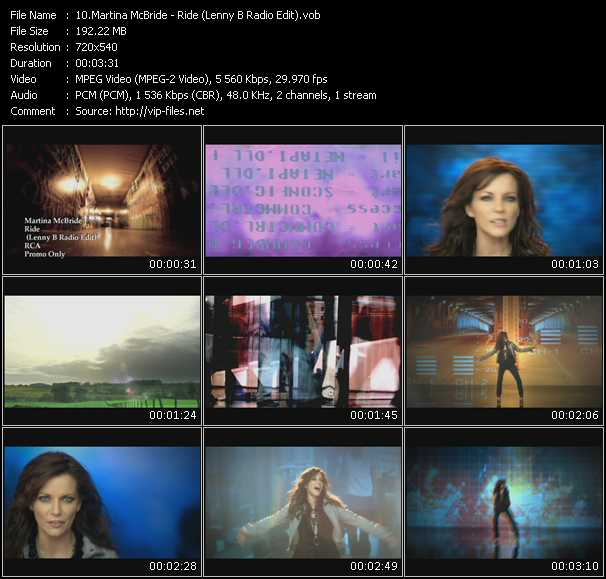 video Ride (Lenny B Radio Edit) screen