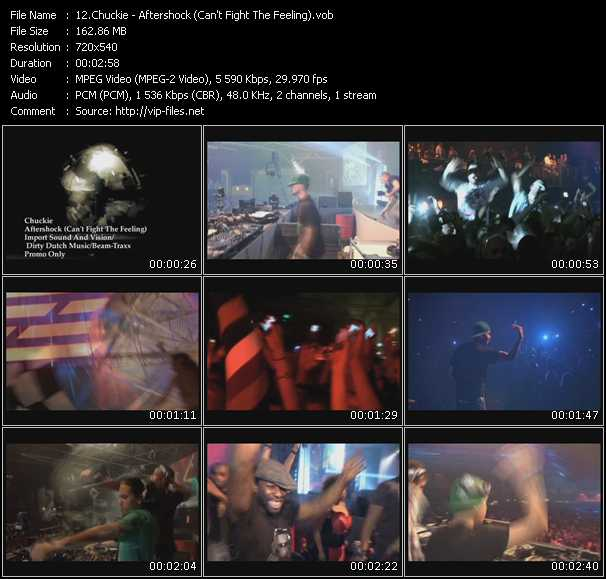 download Chuckie « Aftershock (Can't Fight The Feeling) » video vob