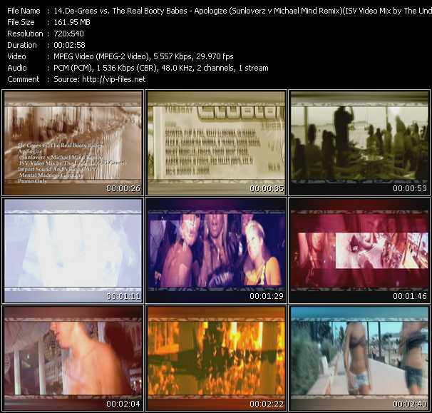 video Apologize (Sunloverz v Michael Mind Remix) (ISV Video Mix by The Undeniable-D.Gauss) screen