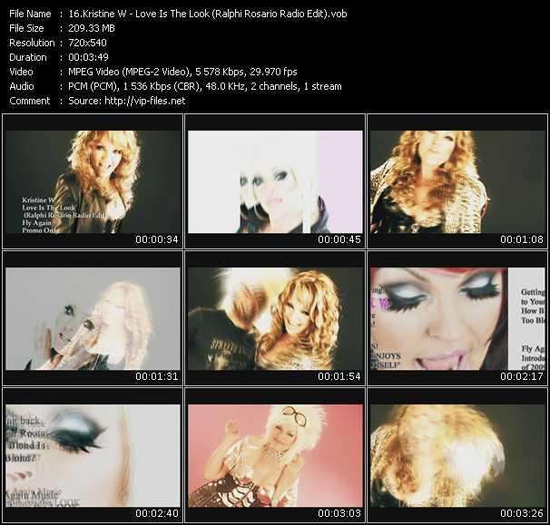 video Love Is The Look (Ralphi Rosario Radio Edit) screen