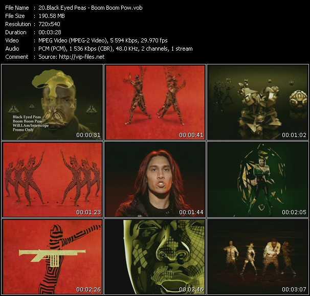 download Black Eyed Peas « Boom Boom Pow » video vob