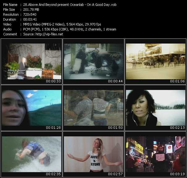 download Above And Beyond Present Oceanlab « On A Good Day » video vob