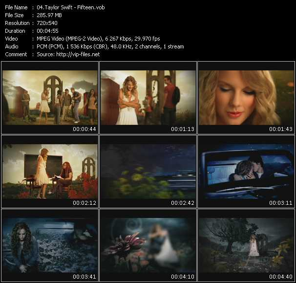 download Taylor Swift « Fifteen » video vob