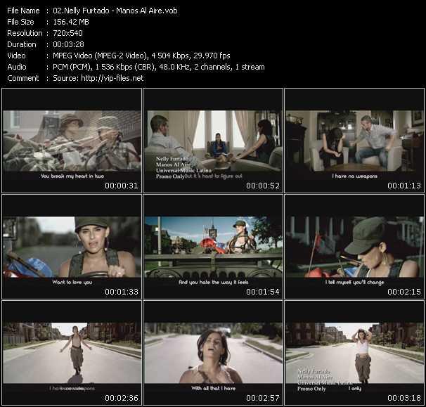 video Manos Al Aire screen
