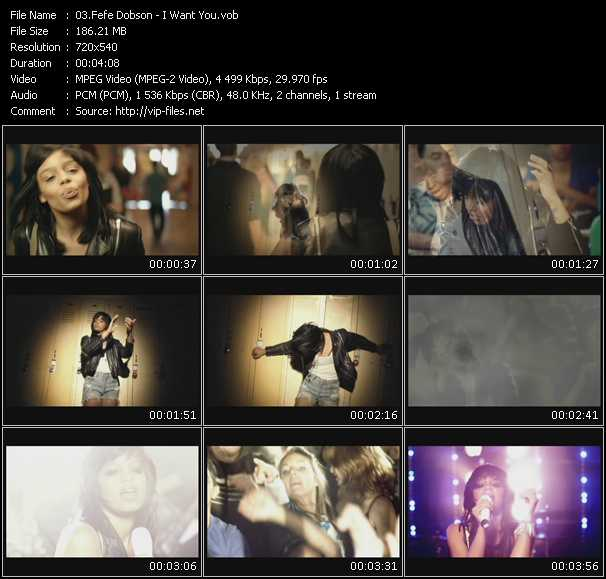 download Fefe Dobson « I Want You » video vob