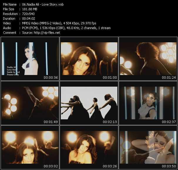 download Nadia Ali « Love Story » video vob