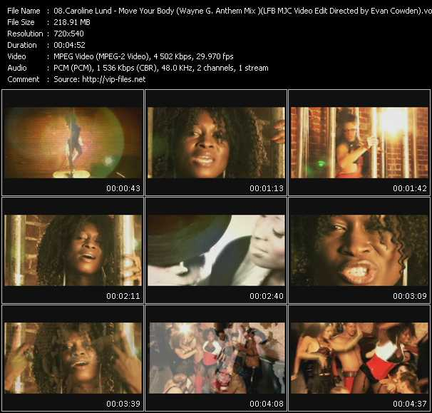video Move Your Body (Wayne G. Anthem Mix ) (LFB MJC Video Edit Directed by Evan Cowden) screen