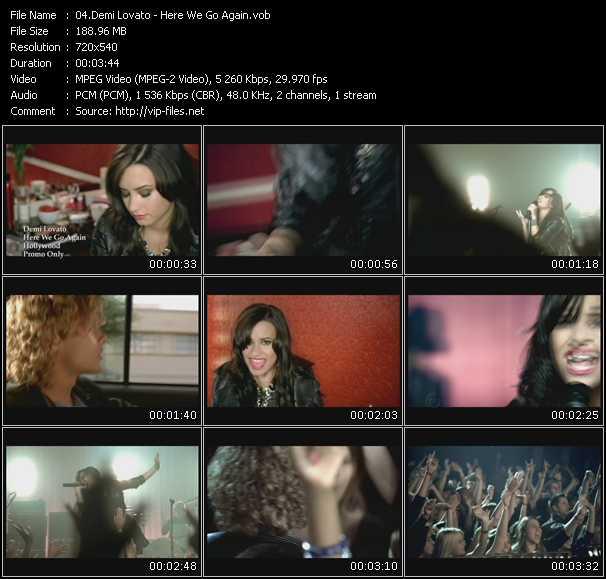 video Here We Go Again screen