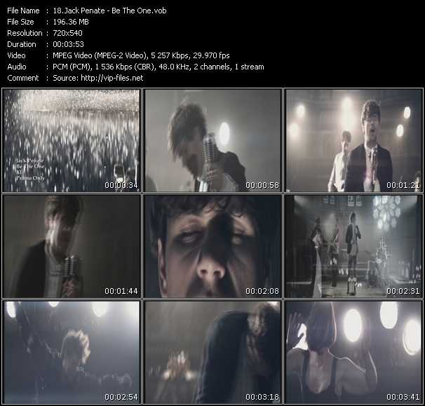 download Jack Penate « Be The One » video vob