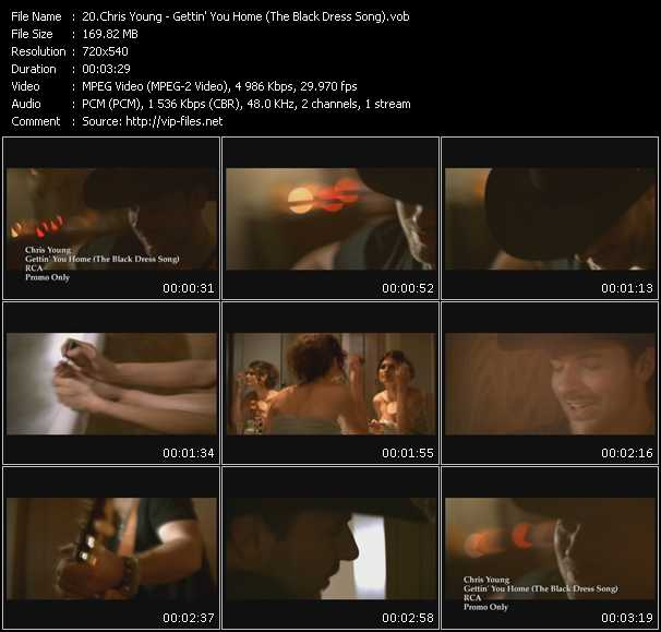 download Chris Young « Gettin' You Home (The Black Dress Song) » video vob