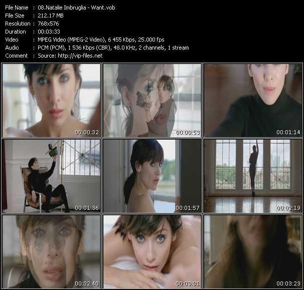 download Natalie Imbruglia « Want » video vob