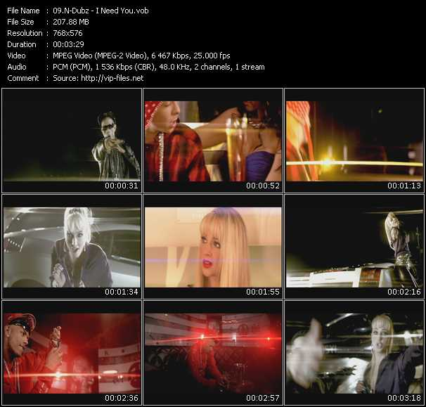download N-Dubz « I Need You » video vob