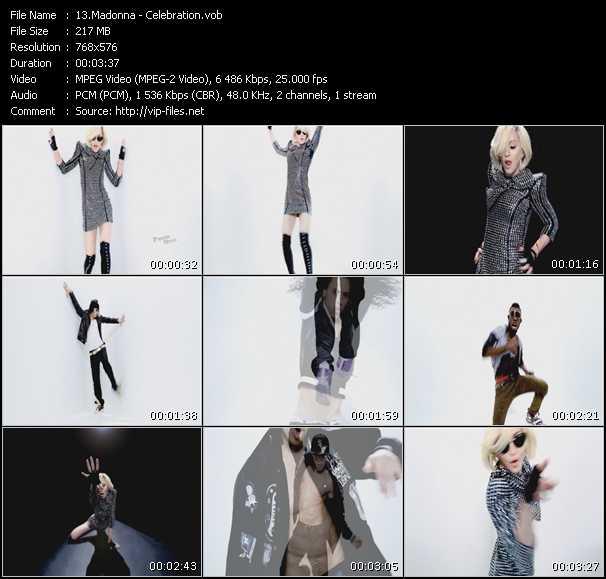 download Madonna « Celebration » video vob