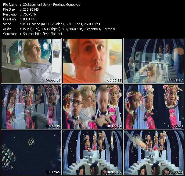 download Basement Jaxx « Feelings Gone » video vob