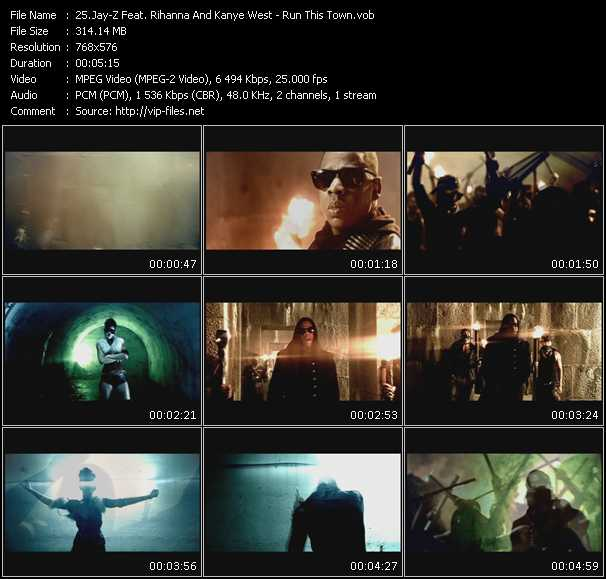 download Jay-Z Feat. Rihanna And Kanye West « Run This Town » video vob