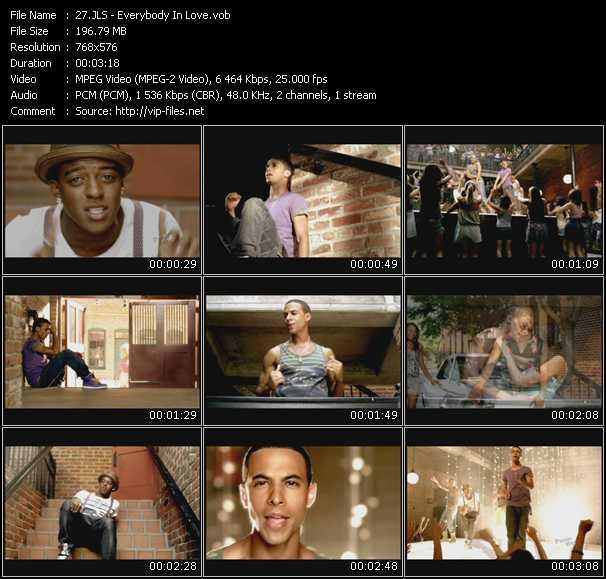 download Jls « Everybody In Love » video vob