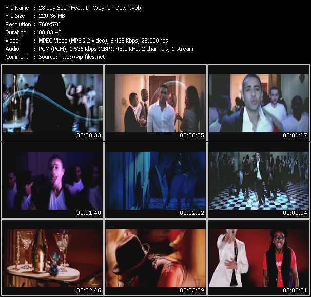 download Jay Sean Feat. Lil' Wayne « Down » video vob