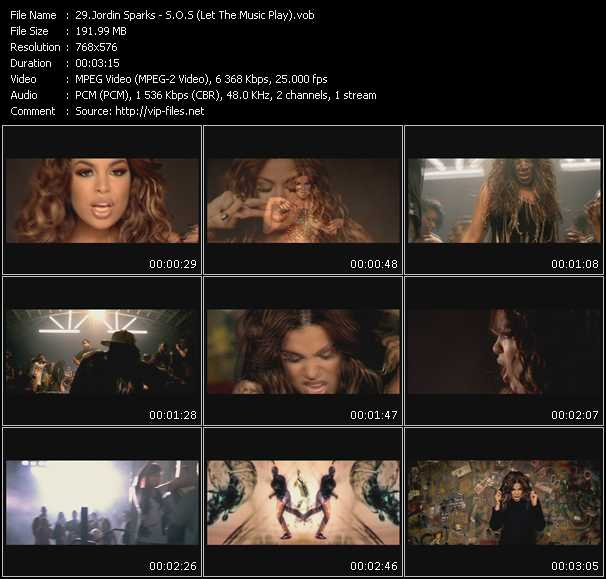 download Jordin Sparks « S.O.S (Let The Music Play) » video vob