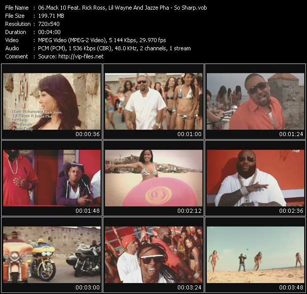 download Mack 10 Feat. Rick Ross, Lil' Wayne And Jazze Pha « So Sharp » video vob