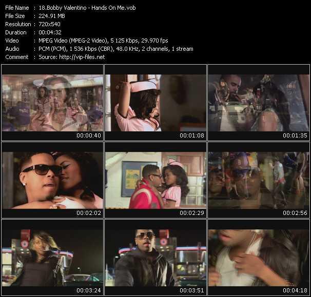 download Bobby Valentino (Bobby V) « Hands On Me » video vob