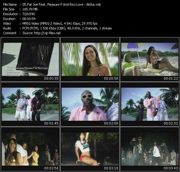 download Fat Joe Feat. Pleasure P And Rico Love « Aloha » video vob