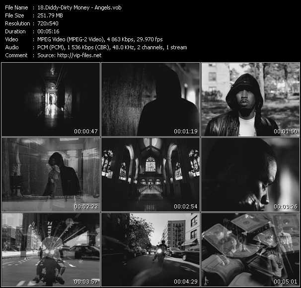 download Diddy - Dirty Money « Angels » video vob