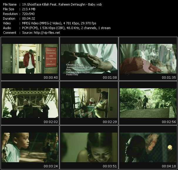 download Ghostface Killah Feat. Raheem DeVaughn « Baby » video vob
