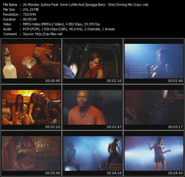 download Monday Justice Feat. Kevin Lyttle And Spragga Benz « She's Driving Me Crazy » video vob
