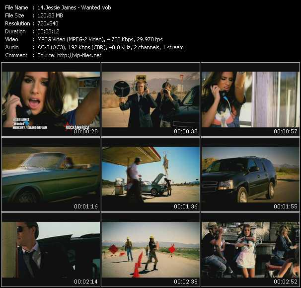 download Jessie James « Wanted » video vob