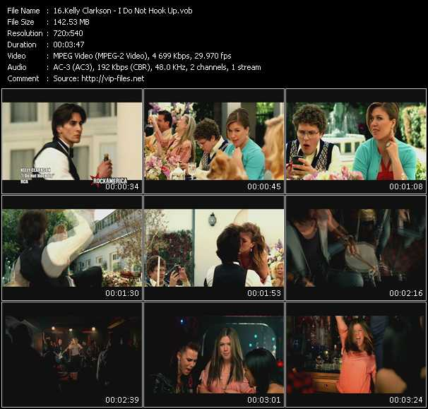 download Kelly Clarkson « I Do Not Hook Up » video vob