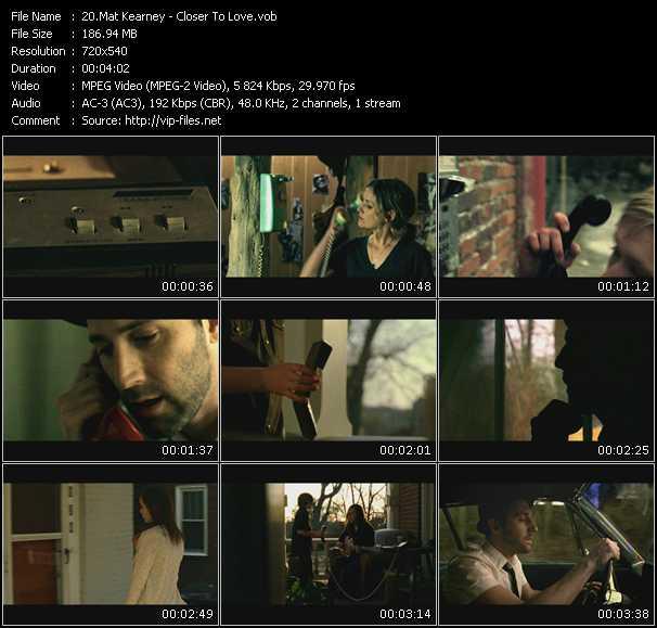 download Mat Kearney « Closer To Love » video vob