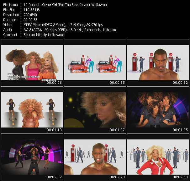download RuPaul « Cover Girl (Put The Bass In Your Walk) » video vob