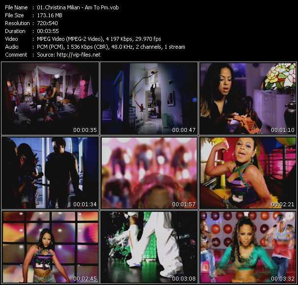 download Christina Milian « Am To Pm » video vob