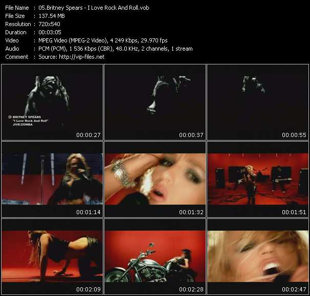download Britney Spears « I Love Rock And Roll » video vob