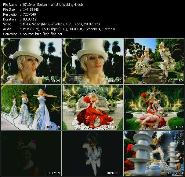 download Gwen Stefani « What U Waiting 4 » video vob