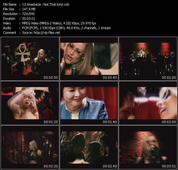 download Anastacia « Not That Kind » video vob