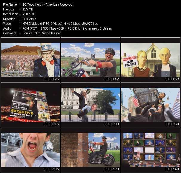 download Toby Keith « American Ride » video vob