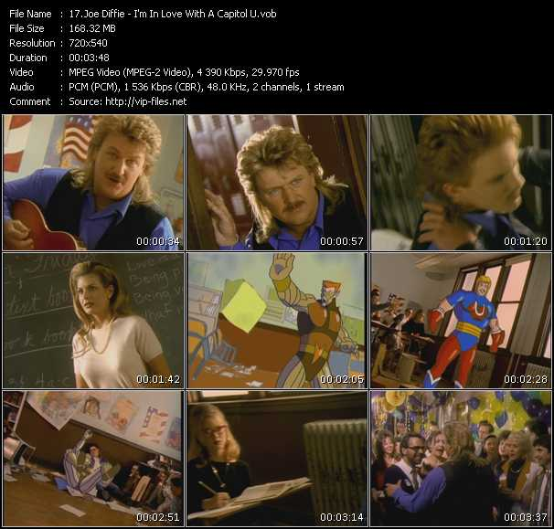 download Joe Diffie « I'm In Love With A Capitol U » video vob