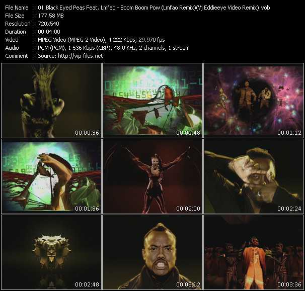 video Boom Boom Pow (Lmfao Remix) (Vj Eddieeye Video Remix) screen