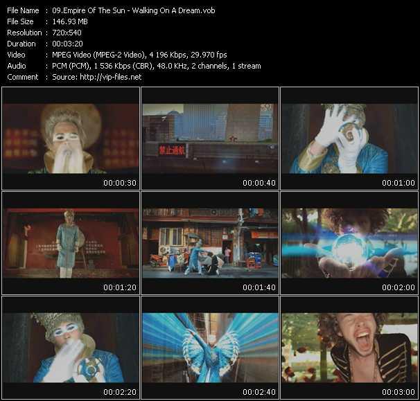 video Walking On A Dream screen