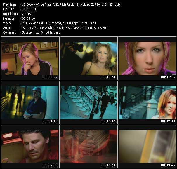 video White Flag (Al B. Rich Radio Mix) (Video Edit By Vj Dr. D) screen