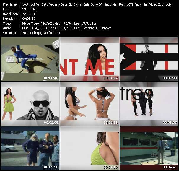 video Days Go By On Calle Ocho (Vj Magic Man Remix) (Vj Magic Man Video Edit) screen
