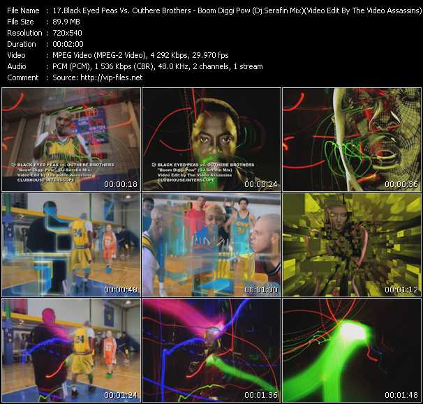 video Boom Diggi Pow (Dj Serafin Mix) (Video Edit By The Video Assassins) screen