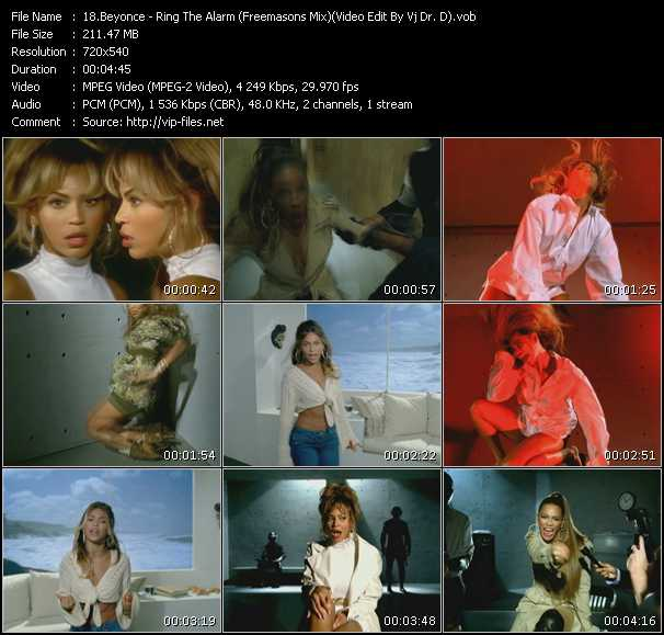 video Ring The Alarm (Freemasons Mix) (Video Edit By Vj Dr. D) screen